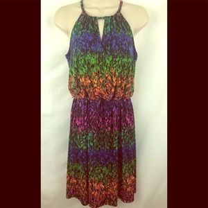 London Times Multi-Color Floral Dress Sz 4